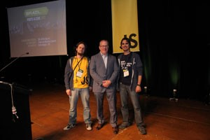 Me, Jaydson and Brendan Eich at BrazilJS 2012