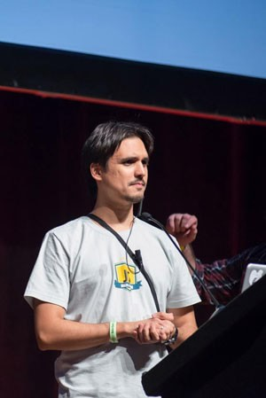 On stage, at BrazilJS 2013